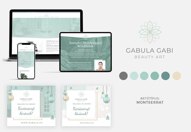 Gabula Beauty Art Logó és weboldal tervezés
