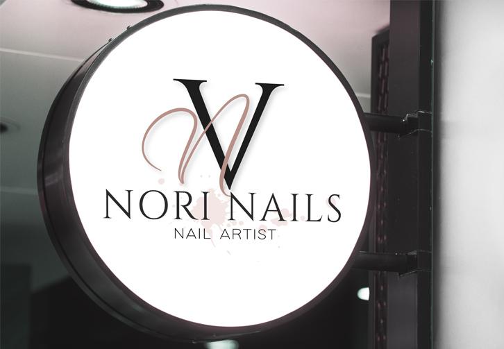 Nori Nails logó tervezés