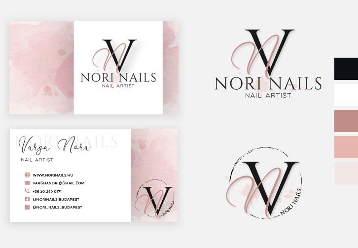Nori Nails névjegykártya tervezés