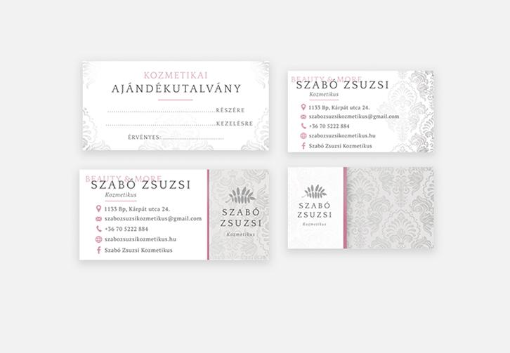 Szabó Zsuzsi névjegy, ajándékkártya