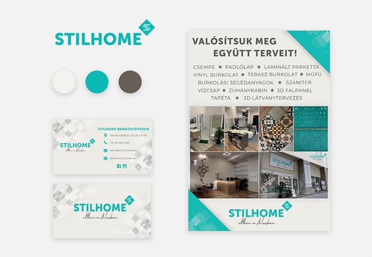 Stillhome névjegy, szórólap tervezés