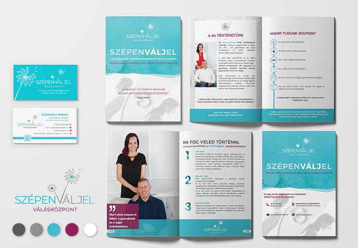 SzépenVáljEl válásközpont teljes arculattervezés
