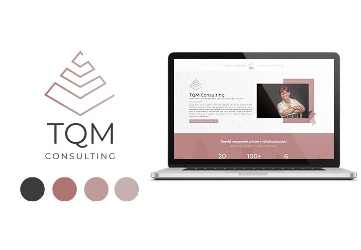 TQM Consulting logó és weboldal tervezés
