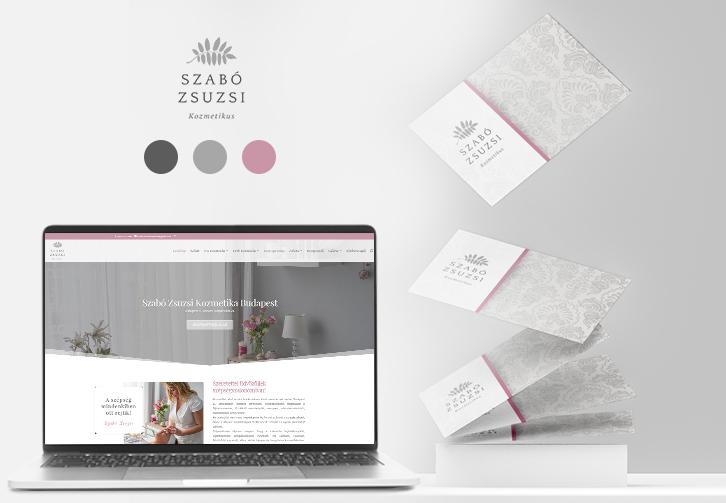 Szabó Zsuzsi névjegykártya és weboldaltervezés
