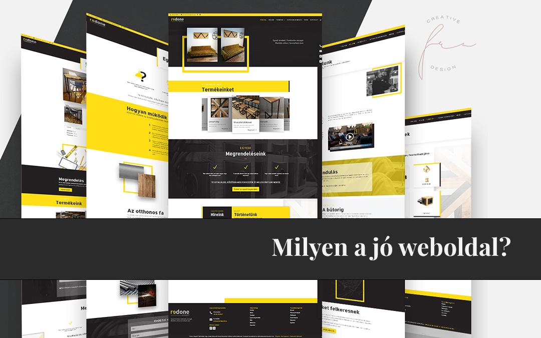 Fru Creative Design - Milyen a jó weboldal? Mitől lesz hatékony a weboldalam?