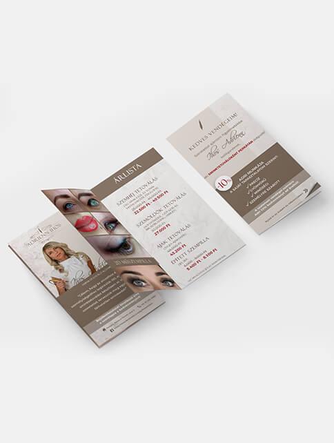 Ihos Adrienn brossúra tervezés