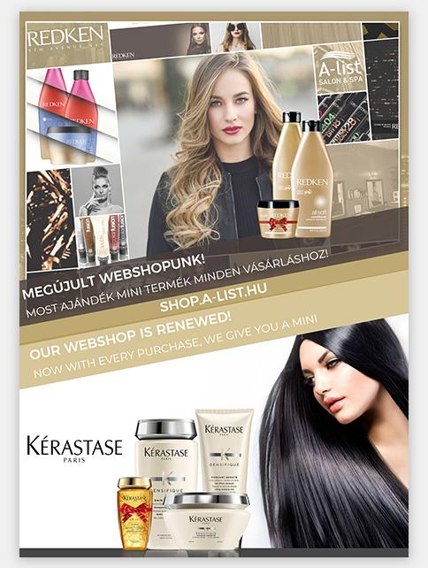 A-list Salon&Spa plakát tervezés