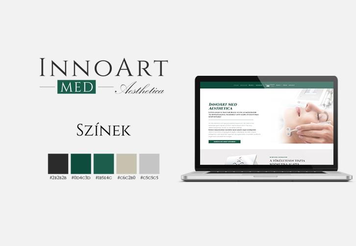 InnoArt Med Aesthetica arculattervezés, és weboldalkészítés