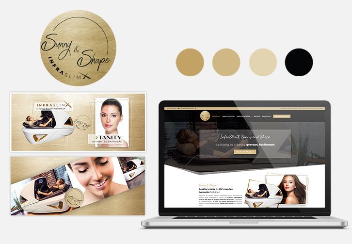 InfraSlimX Sunny&Shape arculattervezés és weboldalkészítés