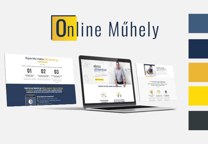 Online Műhely egyoldalas weboldalkészítés és arculattervezés