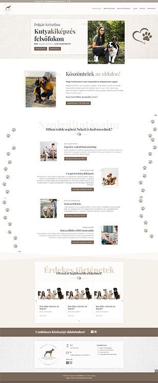 Polgár Krisztina kutyakiképző weboldal készítés